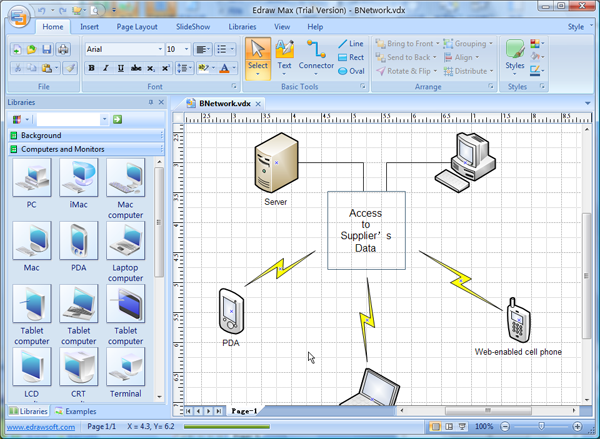 Visio network diagram templates with examples for Visio detailed network diagram template